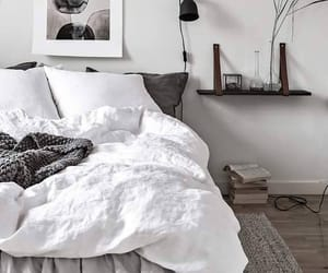 bedding, interior, and minimalist image