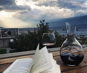 book, drink, and italy image