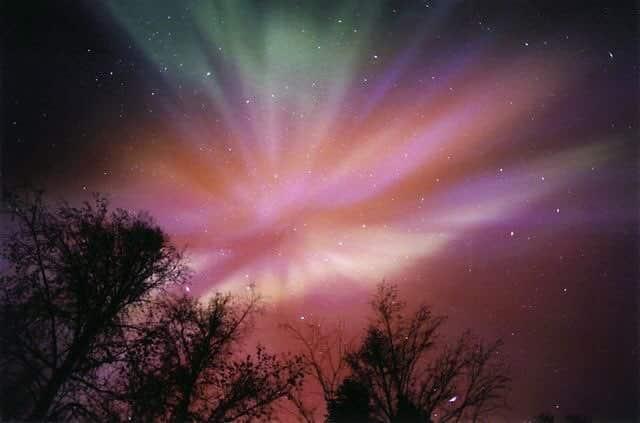 aurora borealis, light, and sky image