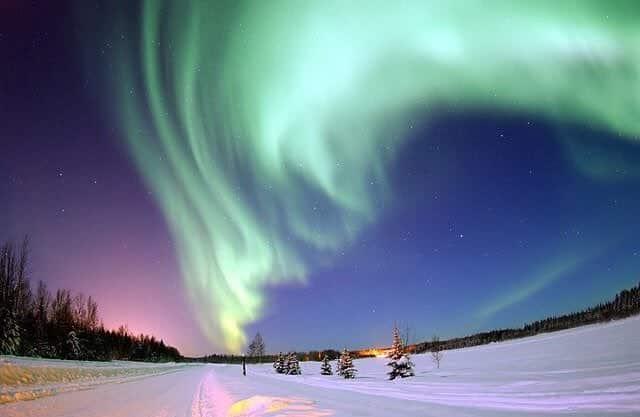 alaska, landscape, and sky image