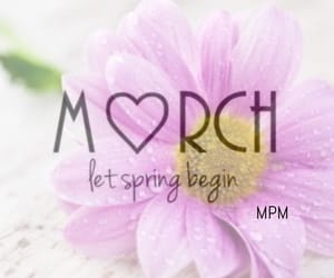 flower, march, and spring image