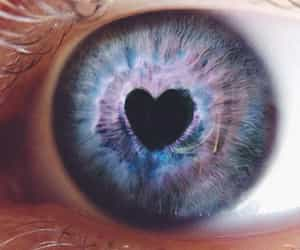 art, blue, and heart image