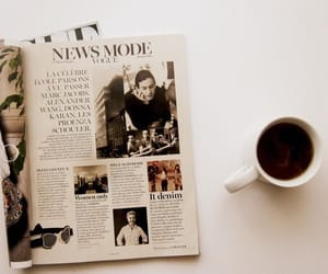 coffee, magazine, and vintage image
