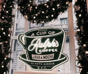 cafe, winter, and christmas image