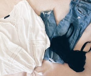 Bershka, outfit idea, and bralette image