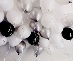 black, white, and balloons image
