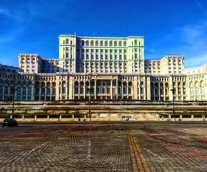blue sky, building, and bucharest image