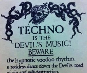 techno, Devil, and funny image