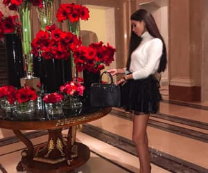 fashion, girl, and roses image
