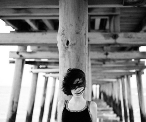 indie, beautiful, and black and white image
