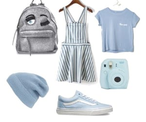 beanie, blue, and clothes image