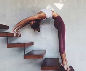 girl, yoga, and fitness image