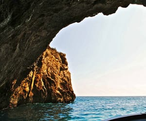 beautiful, cave, and ocean image
