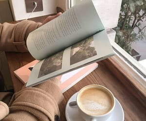 book, aesthetic, and coffee image