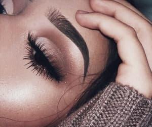 eyebrows, girly, and eyes image