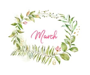 march and words image