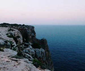 cliff, exploring, and landscape image
