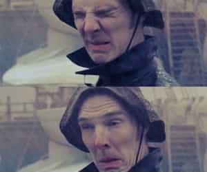 benedict cumberbatch, funny, and rain image
