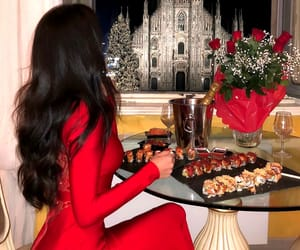 beautiful, food, and red image