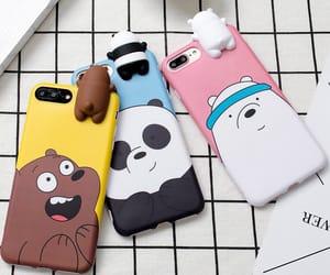 aesthetic, panda, and phone image