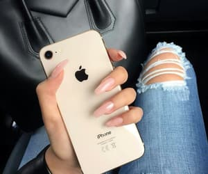 nails, style, and iphone image