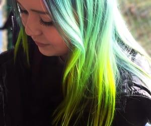 blue hair, green hair, and purple hair image