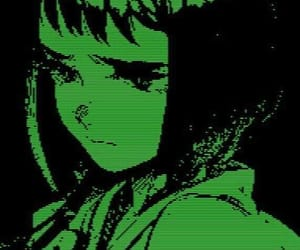 anime, green, and aesthetic image