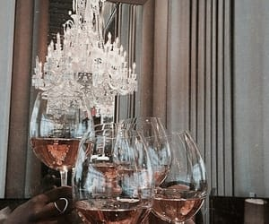 chandelier, drink, and wine image