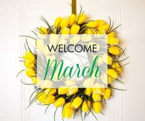 flowers, march, and tulips image