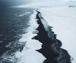 blue, landscape, and ocean image