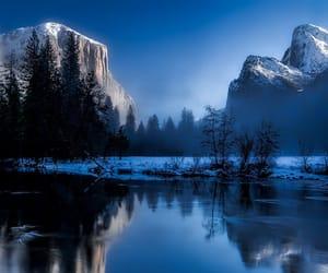 lake, sky, and winter image