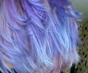 aesthetic, pixie, and purple hair image
