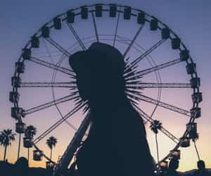 adventure, evening, and ferris wheel image