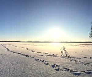 finland, sky, and snow image