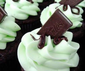 cupcake, chocolate, and mint image