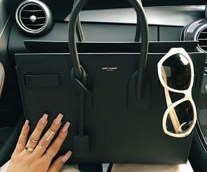black, luxury, and handbag image