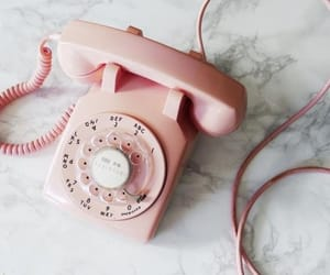 pink, phone, and aesthetic image