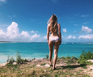 beach, blogger, and fitness image