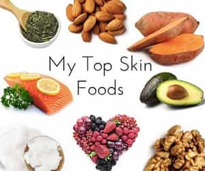 beauty, skin, and best food for clear skin image