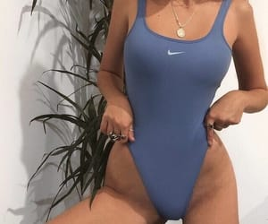 body, swimsuit, and nike image