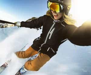 light, winter, and ski image