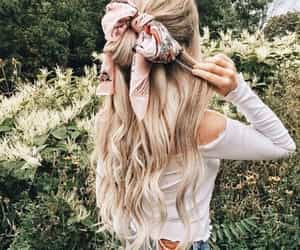 beauty, hair scarf, and bow image