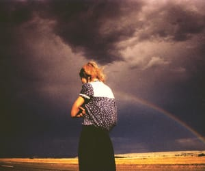 girl, rainbow, and hipster image