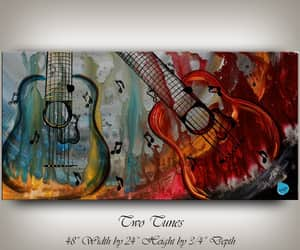 art, etsy, and large painting image