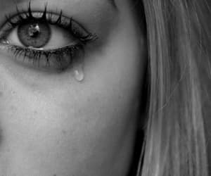 cry, gif, and black and white image