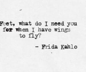 quotes, feet, and wings image