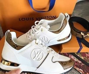 sneakers, Louis Vuitton, and LV image