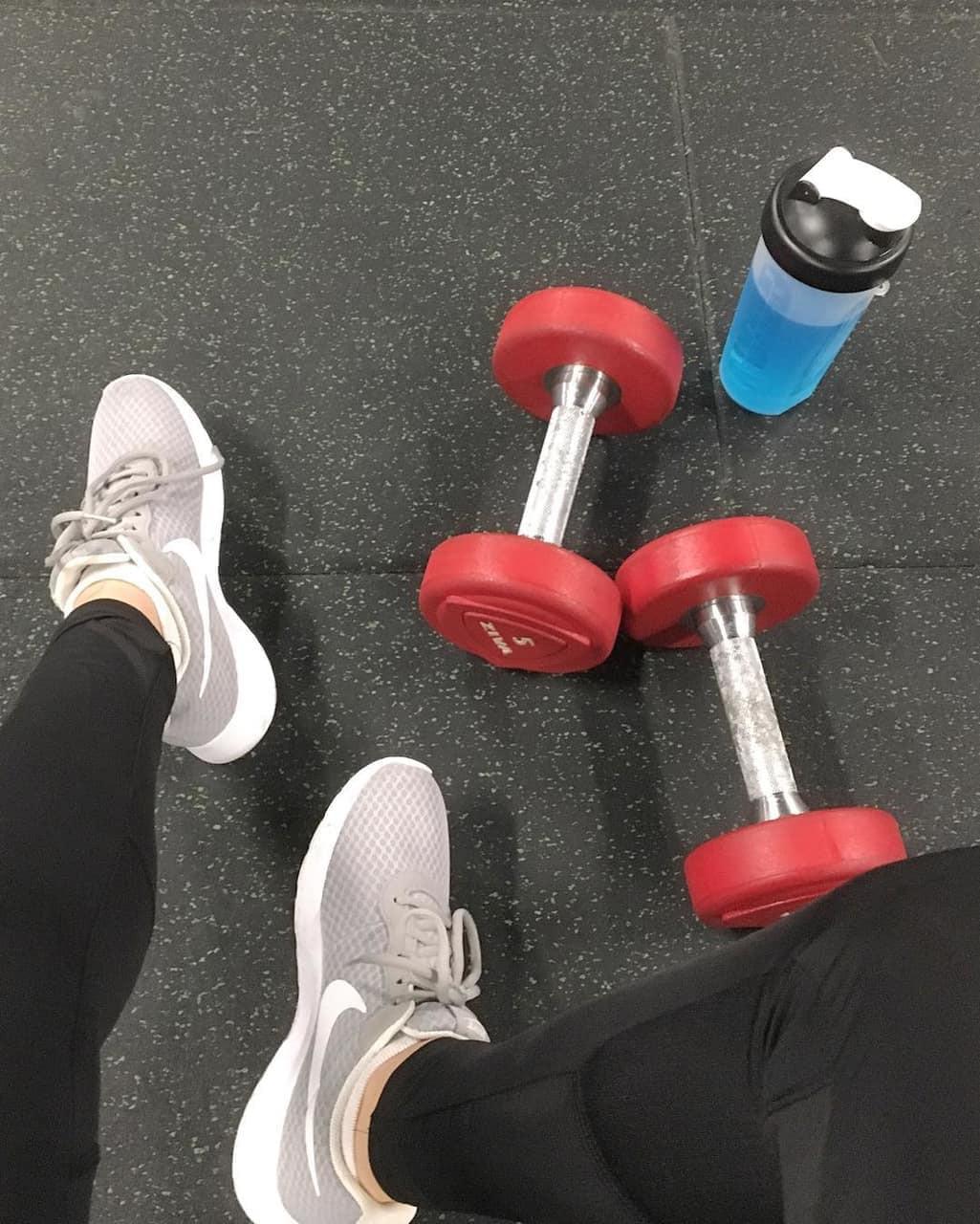 fitness, gym, and nike image