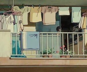 aesthetic, balcony, and beige image