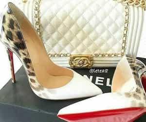 bag, fashion, and christian louboutin shoes image